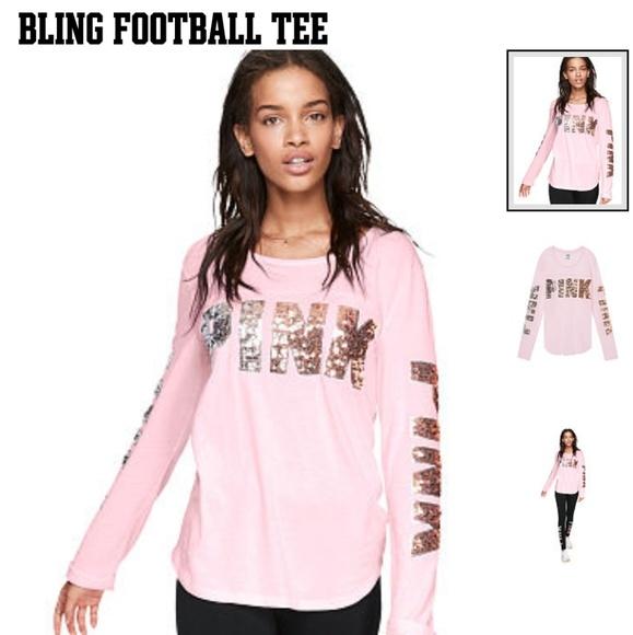 Victoria secret pink large  bling T Shirt NWT Women/'s
